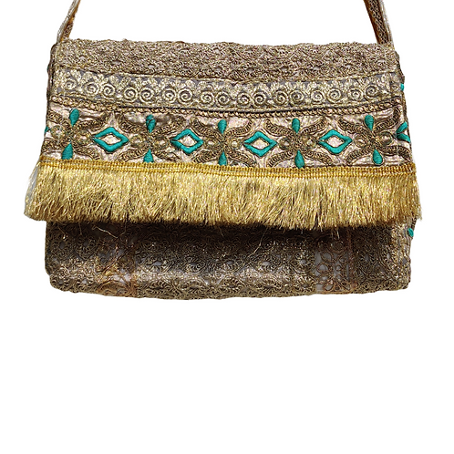 Heavy Embroidered Sling Bag