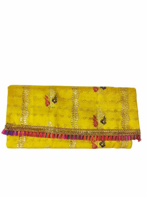 Fabric Tassel Clutch