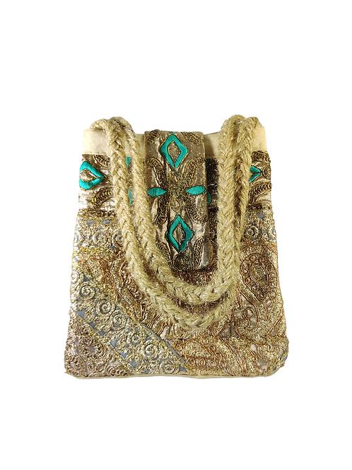 Heavy Embroidered Triangle Potli Bag