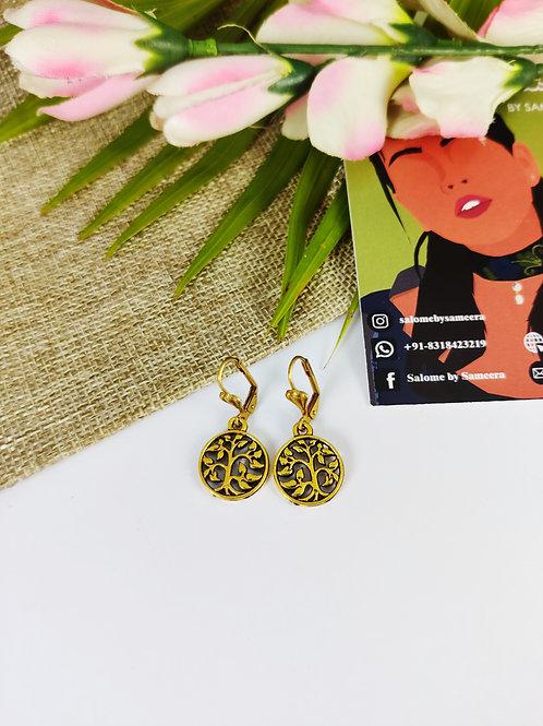 Jaali-work Coin Earrings