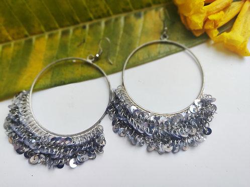 Silver Shimmer Chaandbali