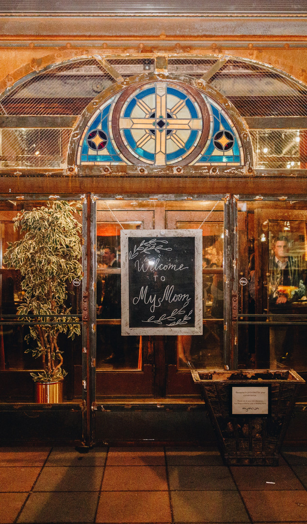 Antique stained glass and urban rustic chic at MyMoon