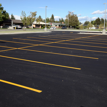 new parking area pave