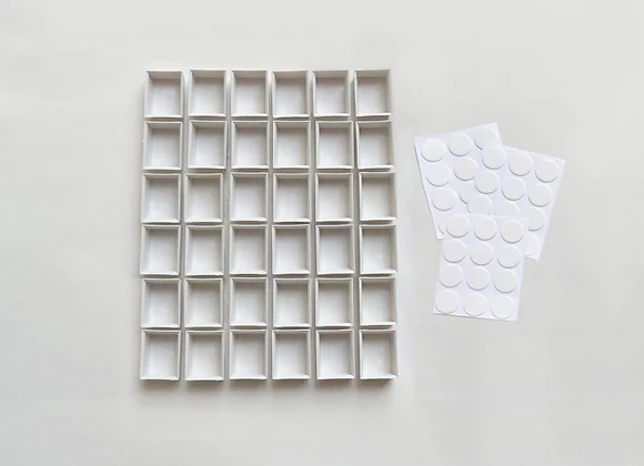 Three Sets of Half-Pans (36) Plus Adhesive Disks