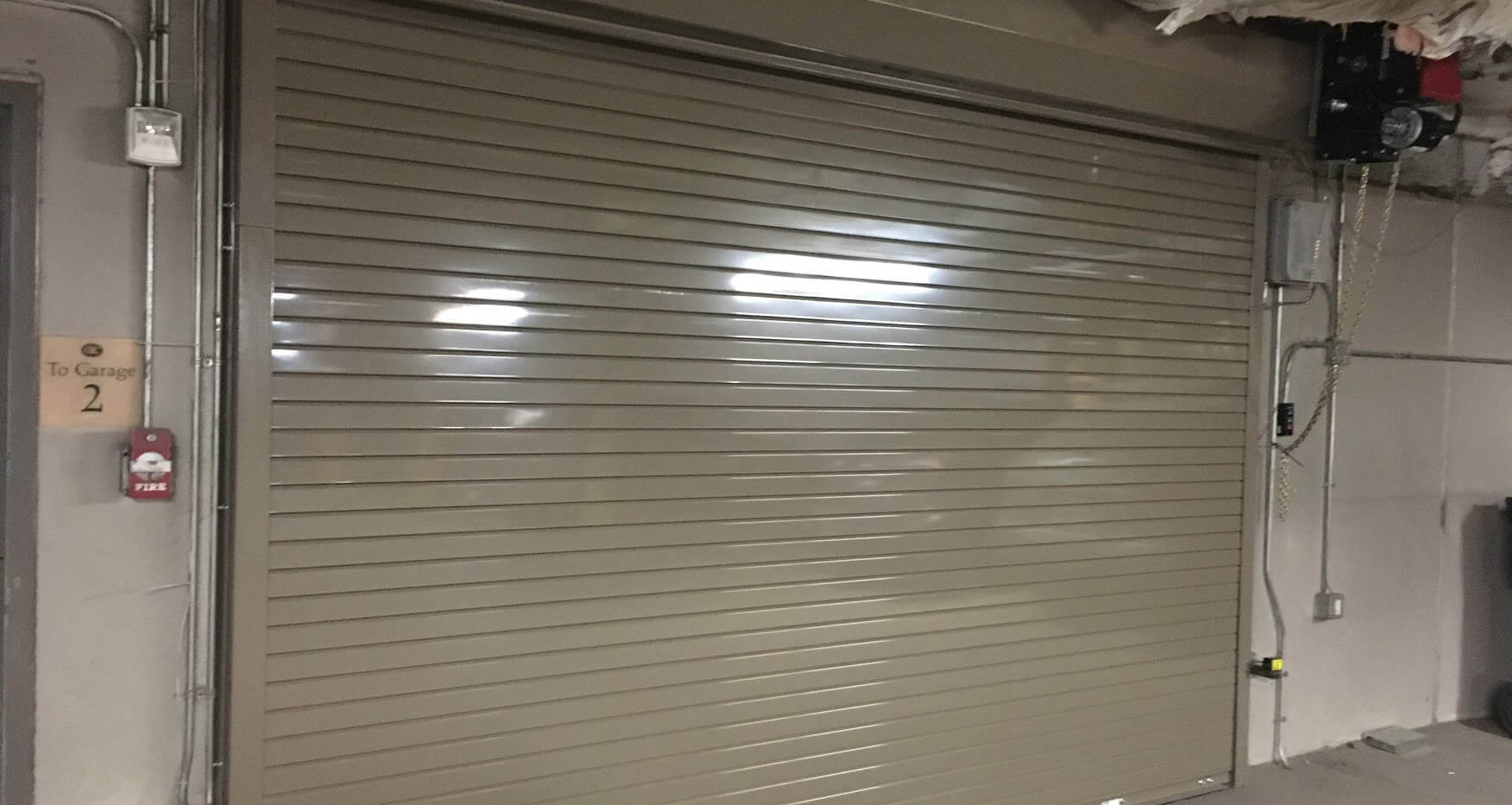 CHI High Performance Steel Roll-up Door for Parking Garage