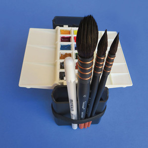 Silicone band for brushes