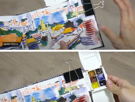 Hands-Free Urban Sketching with the Portable Painter MICRO