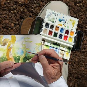 Hands-Free Watercolors
