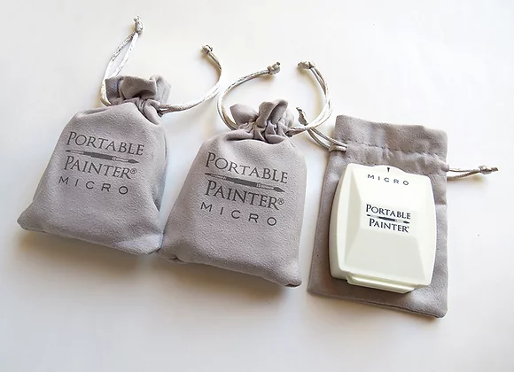 Three (3) Portable Painter Micro Palettes in Drawstring pouch