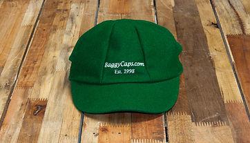 green baggy cap