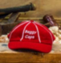 red baggy cap