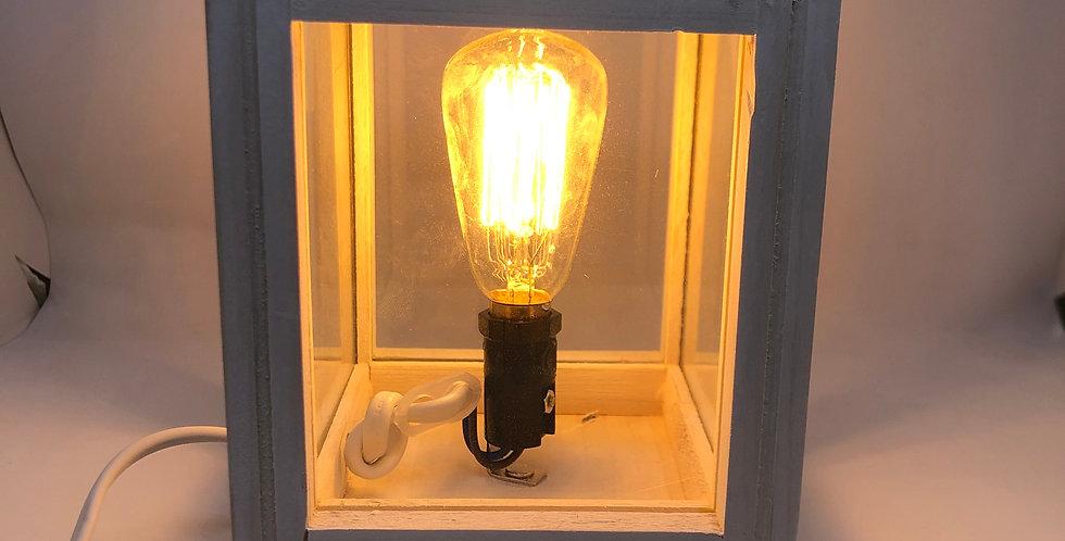 Electric burner - white lantern style