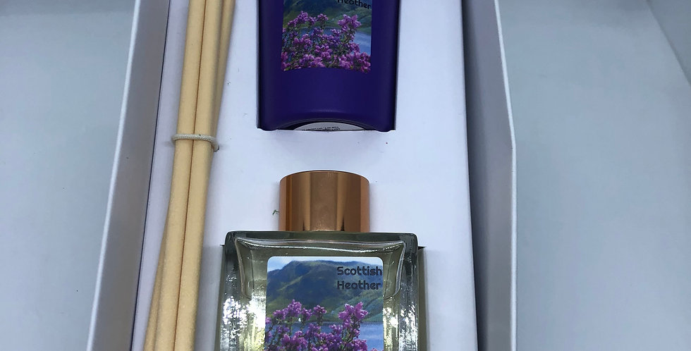 Scottish Heather Diffuser & Candle Gift Box