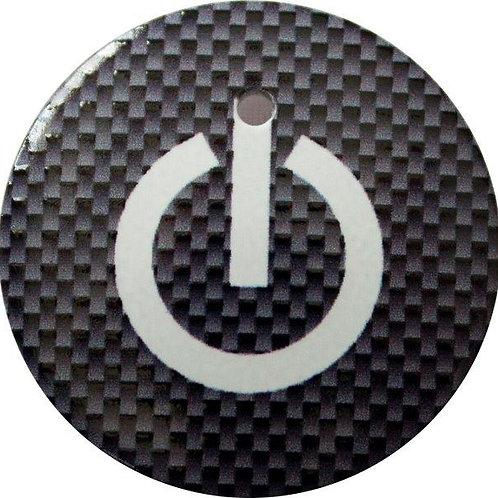 スタートボタン カバー ・ スイッチ カーボン 柄 黒 ・ えっ 貼るだけ!? かんたん取付 プッシュ スタートボタン アクセサリ カバー ホンダ車用