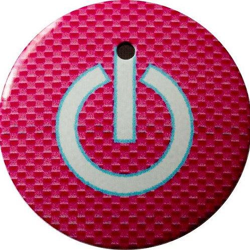 スタートボタン カバー ・ スイッチ カーボン 柄 ピンク ・ えっ 貼るだけ!? かんたん取付 プッシュ スタートボタン アクセサリ カバー ホンダ車用
