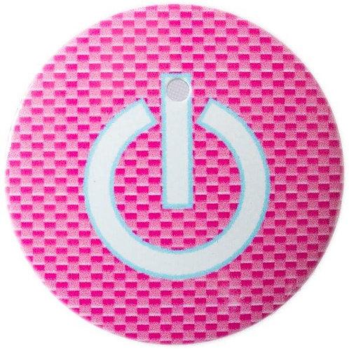 スタートボタン カバー ・ スイッチ カーボン 柄 ピンク トヨタ ダイハツ スバル 車用