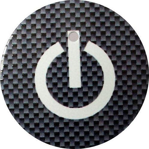 スタートボタン カバー ・ スイッチ カーボン 柄 黒 トヨタ ダイハツ スバル 車用