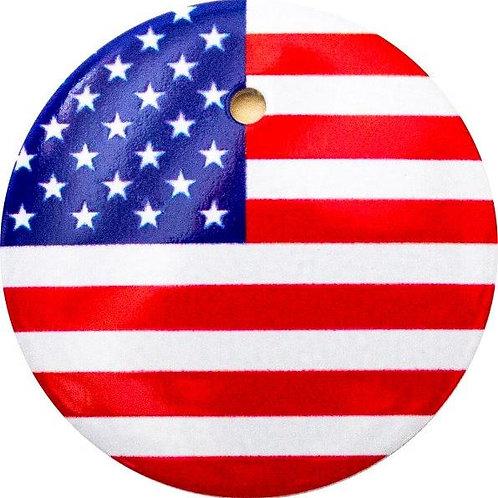 スタートボタン カバー ・ アメリカ 国旗 風 ・ えっ 貼るだけ!? かんたん取付 プッシュ スタートボタン アクセサリ カバー ホンダ車用