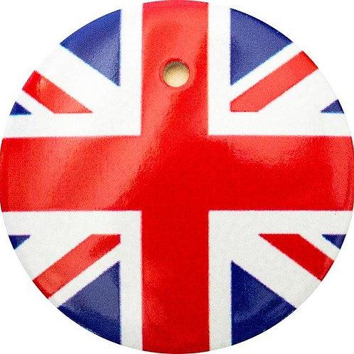 スタートボタン カバー ・ イギリス 国旗 風 ・ えっ 貼るだけ!? かんたん取付 プッシュ スタートボタン アクセサリ カバー ホンダ車用
