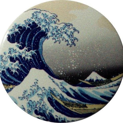 スタートボタン カバー ・ 浮世絵 富士山 神奈川沖裏 風 トヨタ ダイハツ スバル 車用