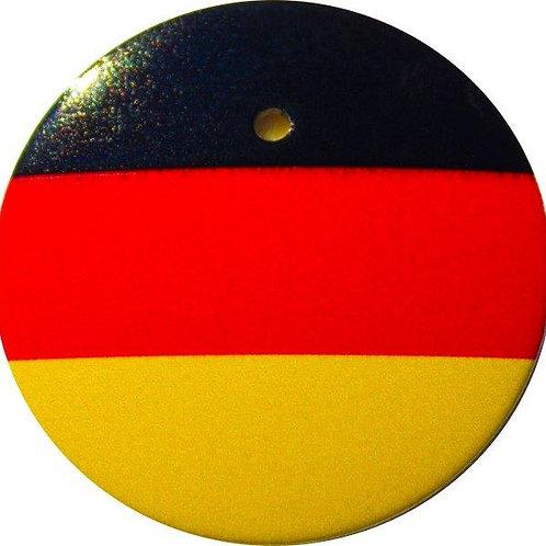 スタートボタン カバー ・ ドイツ 国旗 風 トヨタ ダイハツ スバル 車用