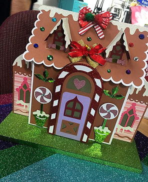 Gingerbread house made on Scan N Cut....