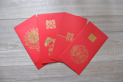Red Packets Wedding themed - Packet of 10