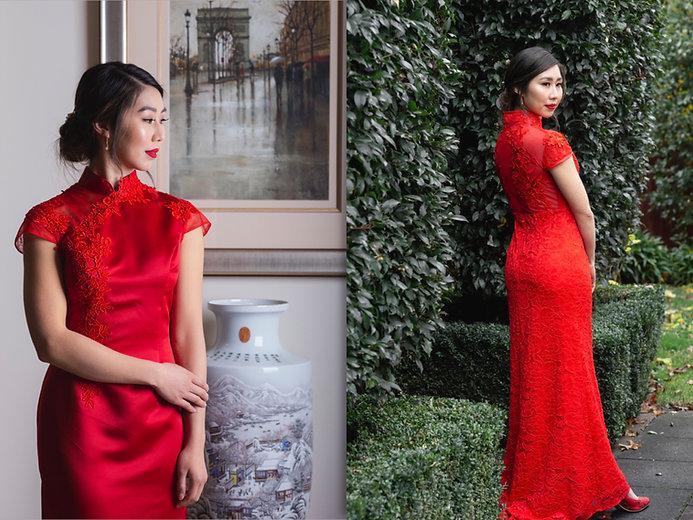 cheong sam qi pao chinese wedding dress
