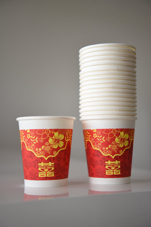 Red Paper Cups - packet of 50