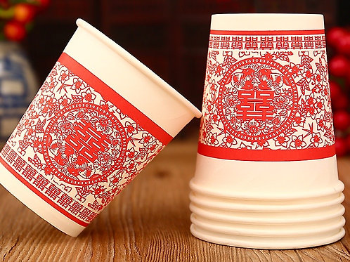 Floral Paper Cups - packet of 50