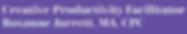 creative productivity facilitator purple
