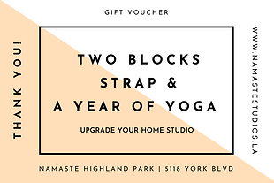 Two Blocks, Strap & A Year of Yoga