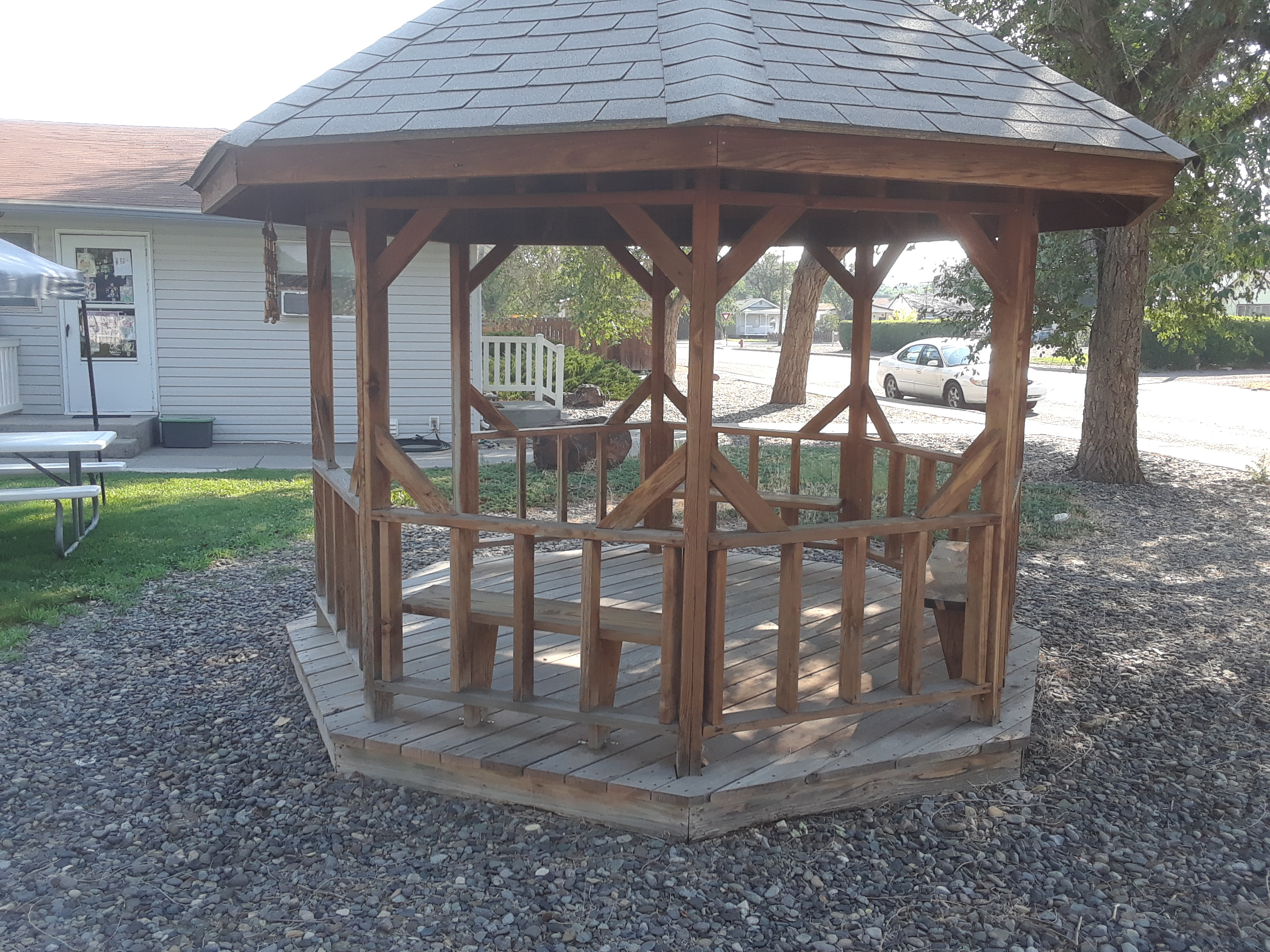 Gazebo before