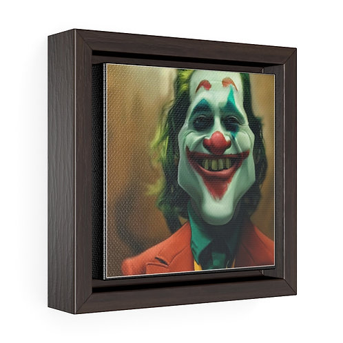 Bulman Pop-scene: JOKER -Square Framed Premium Gallery Wrap Canvas