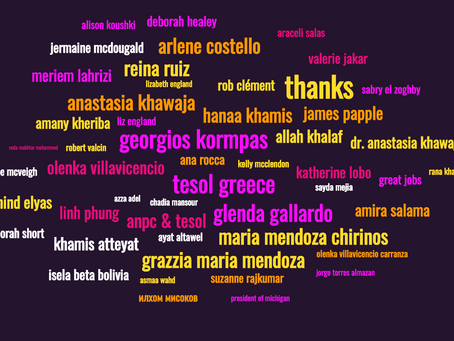A Tribute to Participants' Engagement in TESOL Affiliate Network 2020 Events