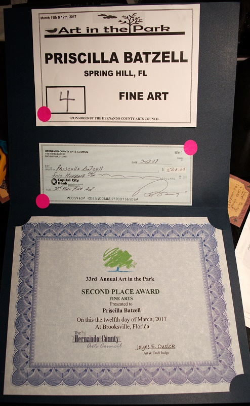 certificate of award Fine Arts 2017