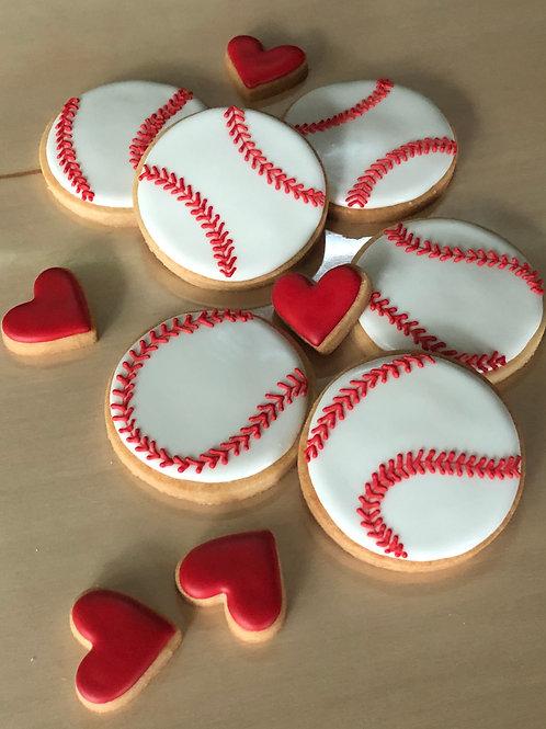 1 dozen - BASEBALL LOVE