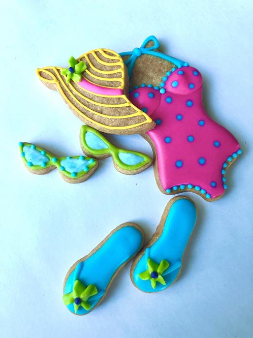 1 dozen cookies - BEACH PARTY MAMA