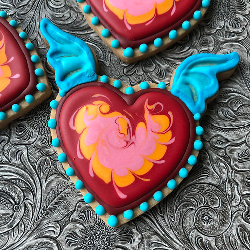 3 cookie - FLYING HEARTS