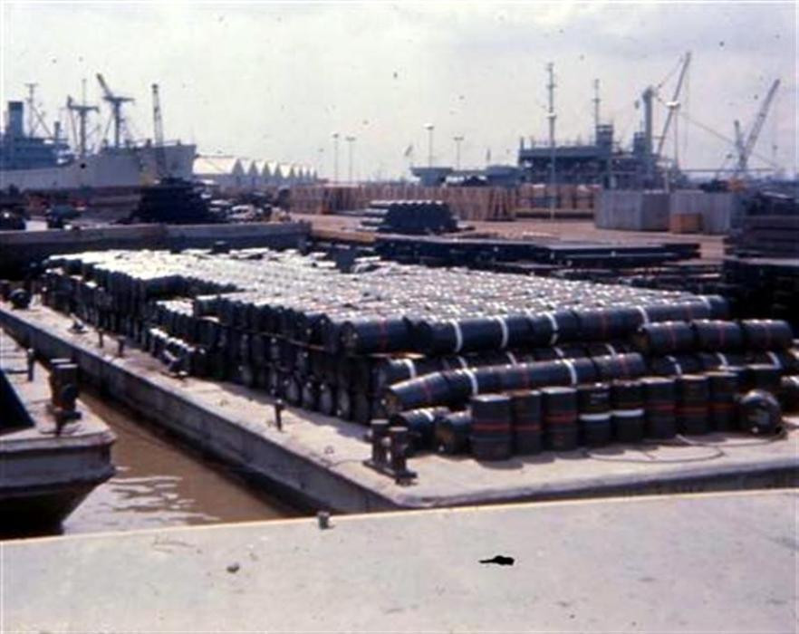 Barrels of defoliant