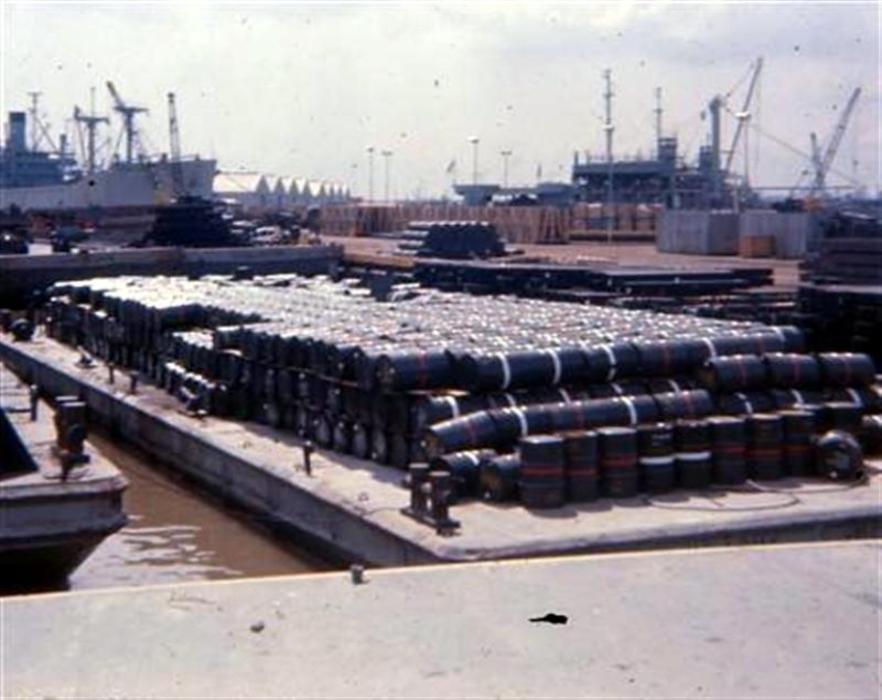 Barrels of defoliant