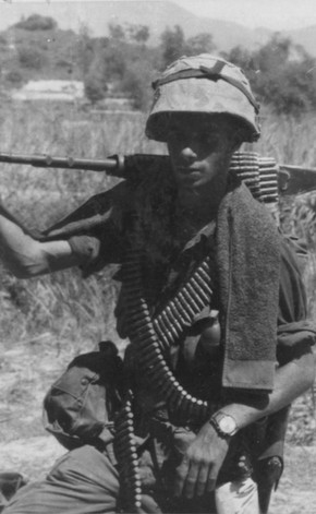 Cpl G. Greenberg, age 20, of Irvington, N.J. on Operation Swift.  Source: National Archives photo no. 26387637