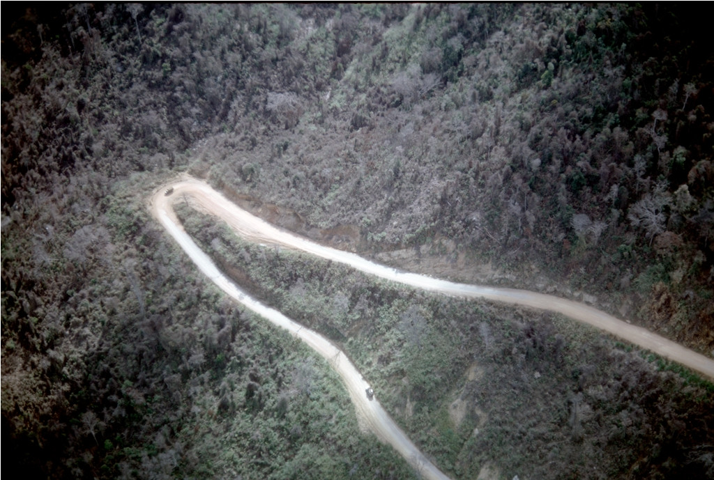 A switchback curve in An Khê pass, 1965.