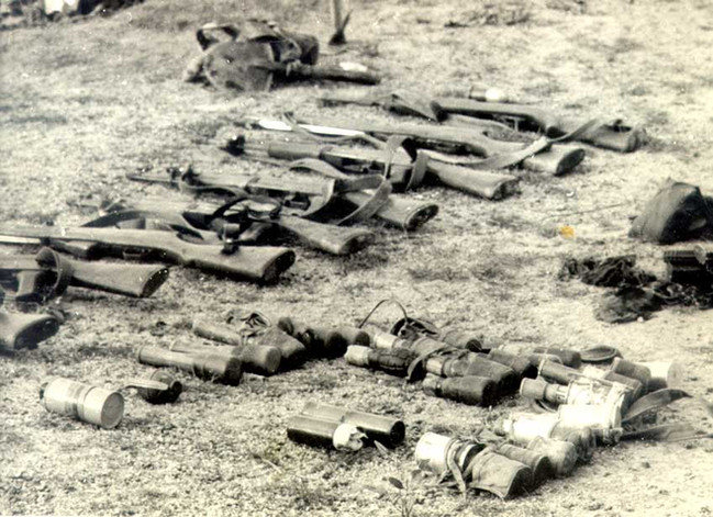 Some enemy weapons captured over the course of Operation Swift.  Source: Photo from JD Murray