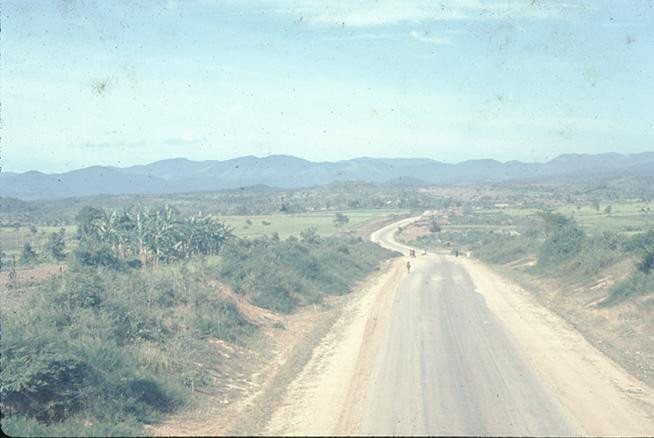 View down Highway 19, 1967.