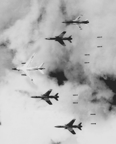 Specialized RB-66s helped F-105s bomb in North Vietnam's frequently poor weather conditions.  Source: US Air Force