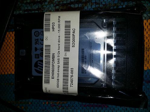"""CSS20013 - HP G7 G6 G5 600gb 15k 6g 2.5""""  SAS"""