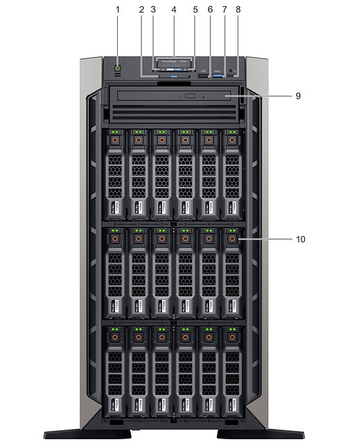 "Dell PowerEdge T640,18 x 3.5"",2 x Xeon Gold 6148,32GB,2x480GB SSD 6x1.92TB SSD"