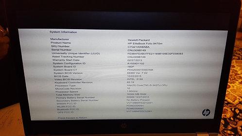 "HP EliteBook Folio 9470m Ultrabook 14"" HD i5-3427U"