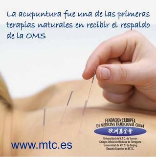 Patologías tratadas con acupuntura reconocidas por la Organización Mundial de la Salud (OMS)